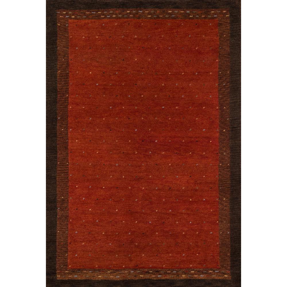 "Desert Gabbeh Area Rug, Paprika, 2'6"" X 8' Runner. The main picture."