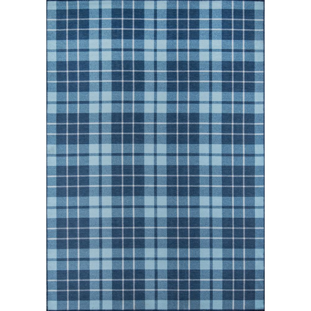 """District Area Rug, Blue, 5' X 7'6"""". Picture 1"""