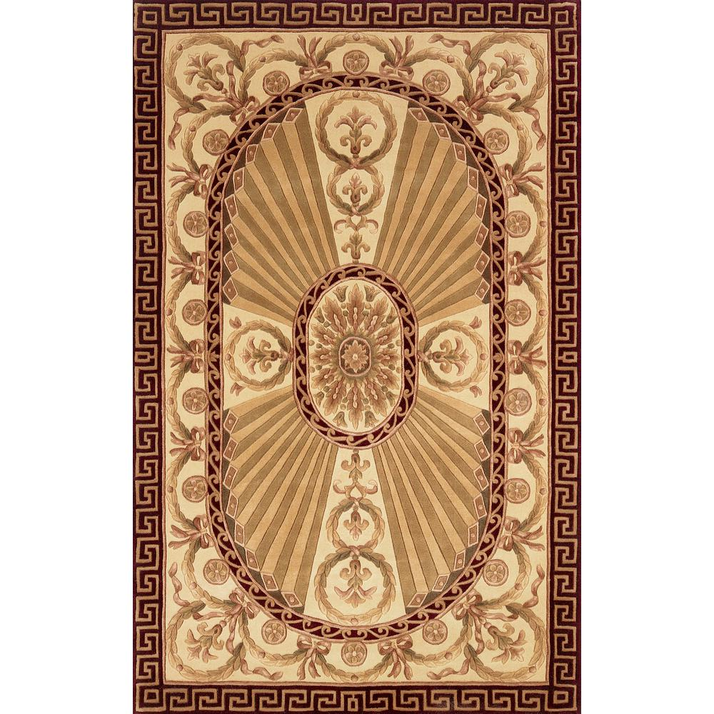 """Harmony Area Rug, Burgundy, 2'6"""" X 12' Runner. Picture 1"""