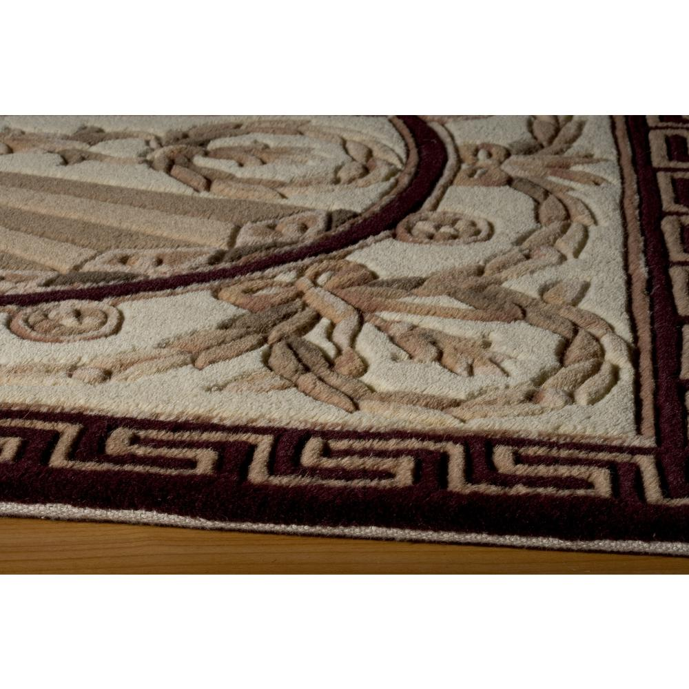 """Harmony Area Rug, Burgundy, 2'6"""" X 12' Runner. Picture 2"""