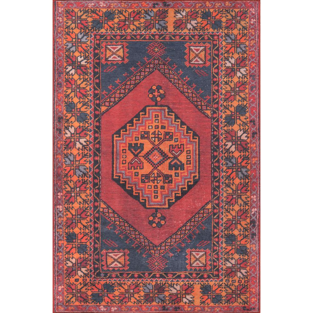 Afshar Area Rug, Red, 3' X 5'. Picture 1