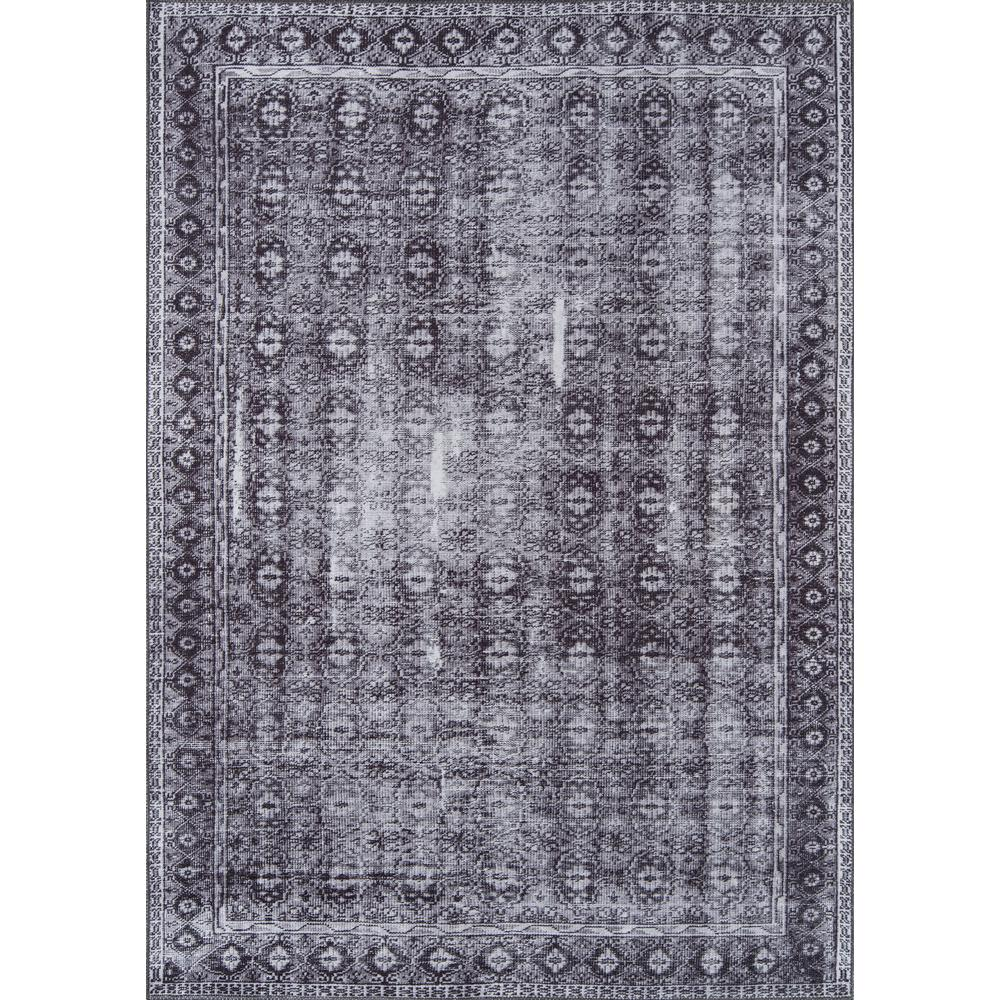 Afshar Area Rug, Charcoal, 3' X 5'. Picture 1