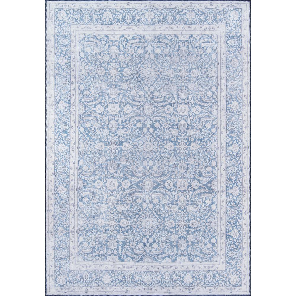 Afshar Area Rug, Blue, 3' X 5'. Picture 1