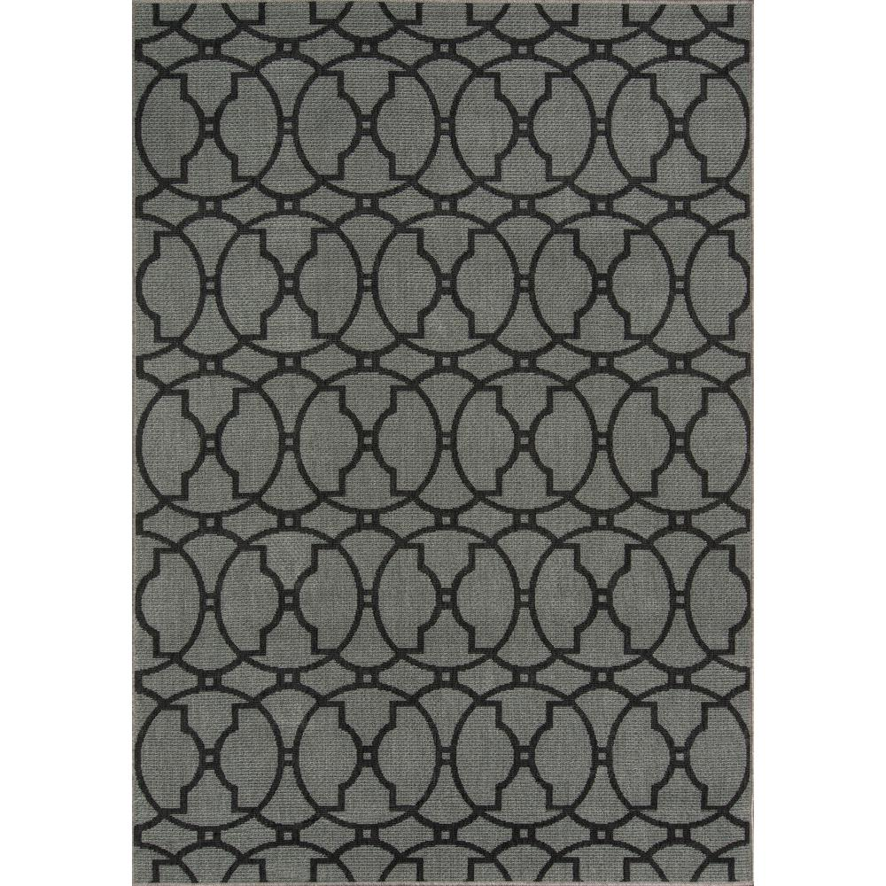 """Baja Area Rug, Charcoal, 2'3"""" X 7'6"""" Runner. Picture 1"""