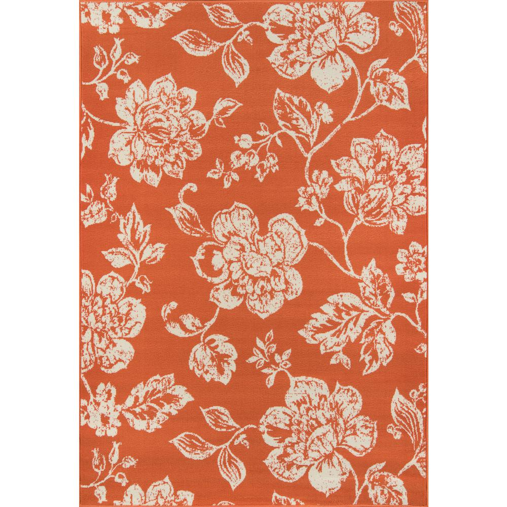 "Baja Area Rug, Orange, 2'3"" X 7'6"" Runner. Picture 1"