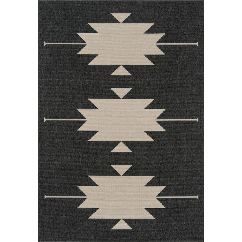 "Baja Area Rug, Charcoal, 2'3"" X 7'6"" Runner. Picture 1"
