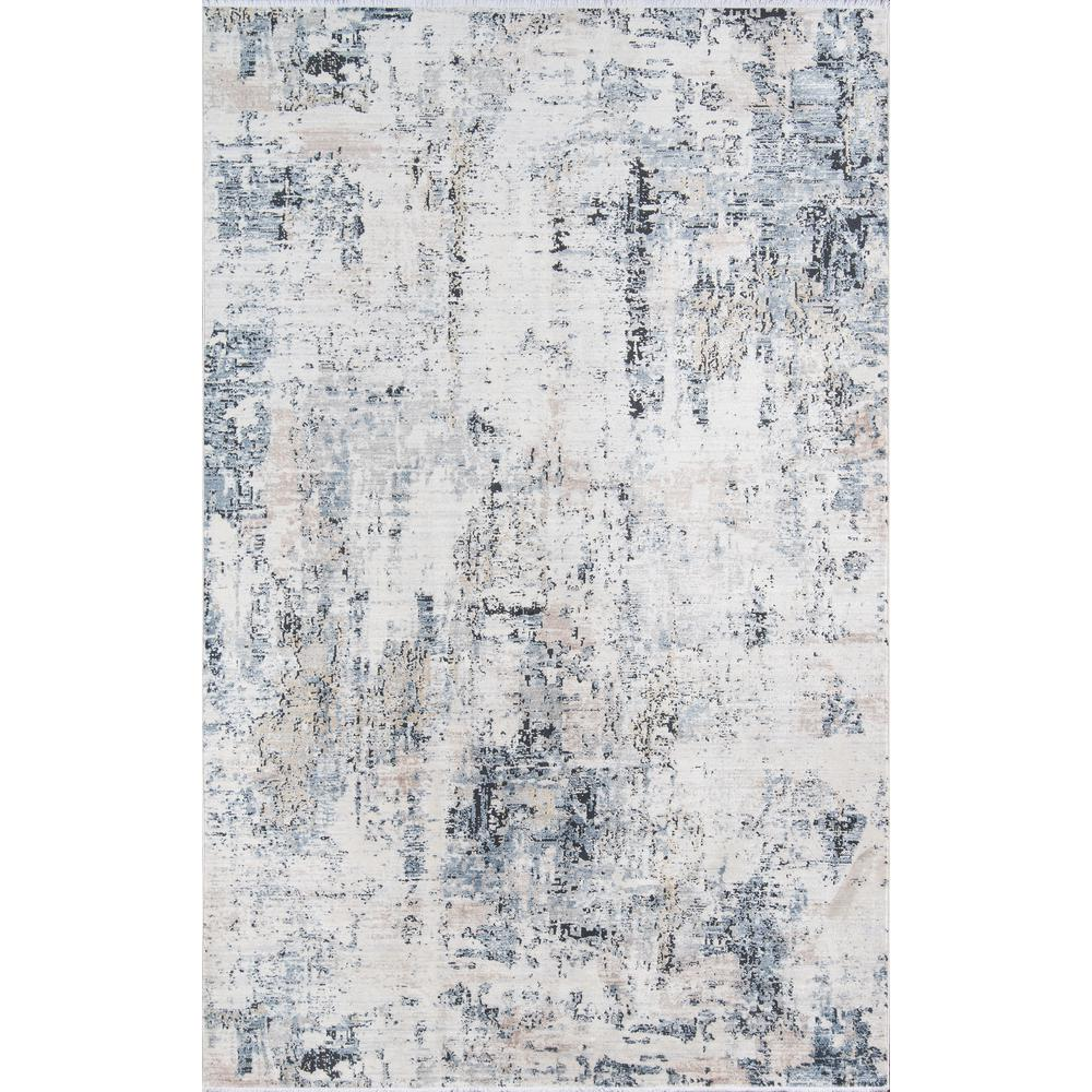"Bergen Area Rug, Blue, 2'6"" X 10' Runner. The main picture."