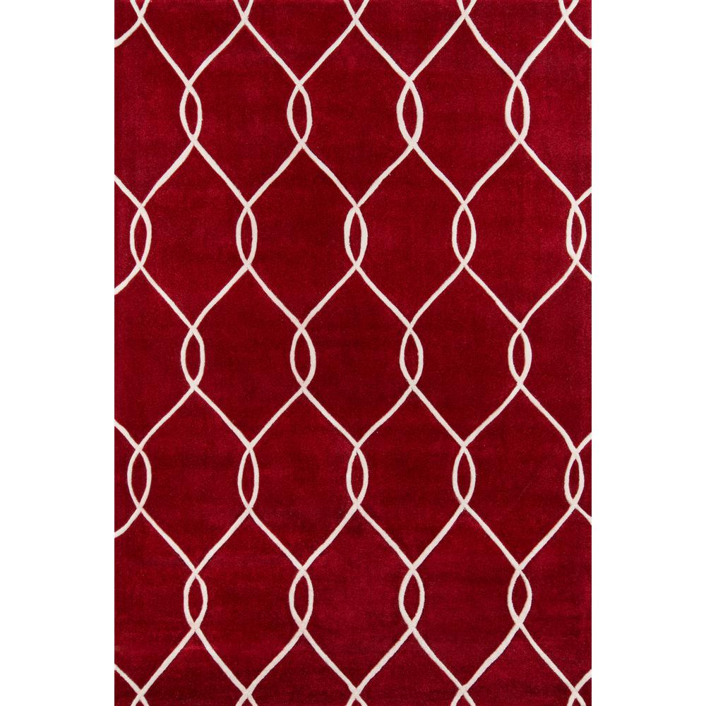 """Bliss Area Rug, Red, 3'6"""" X 5'6"""". Picture 1"""