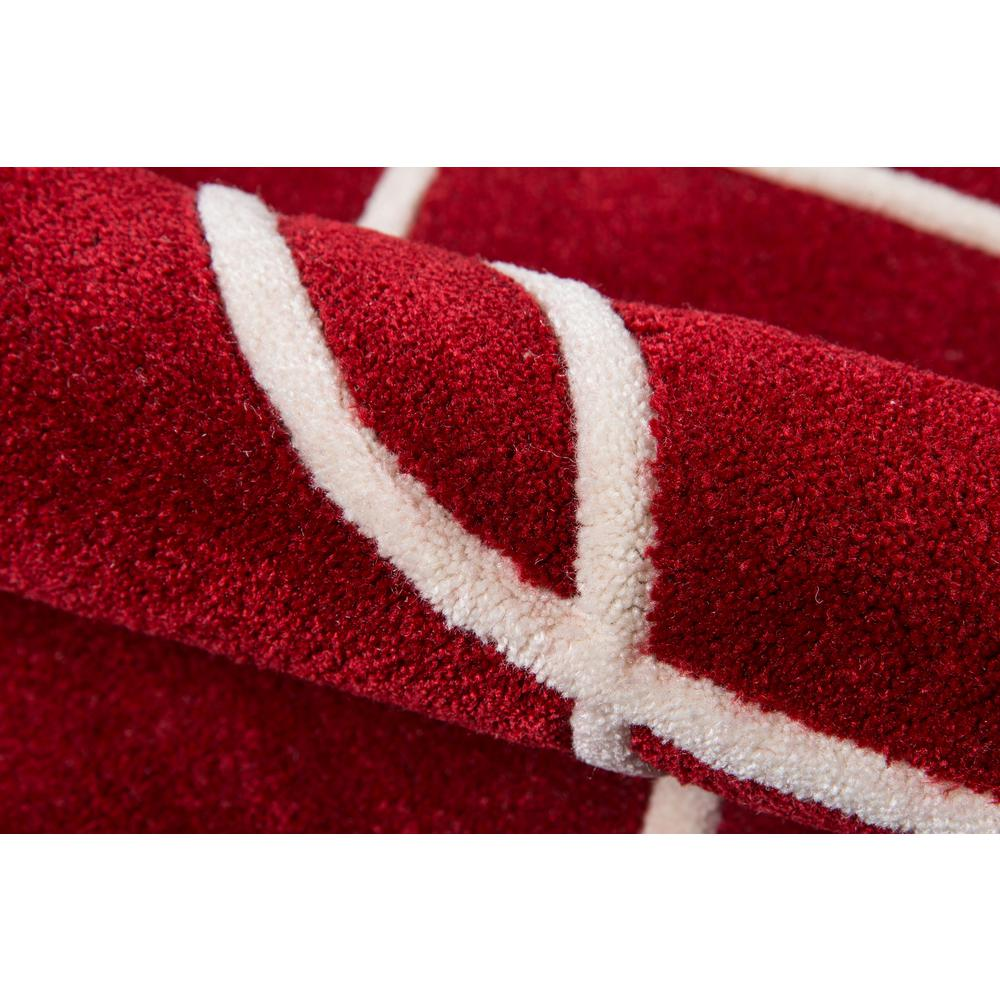 """Bliss Area Rug, Red, 3'6"""" X 5'6"""". Picture 4"""