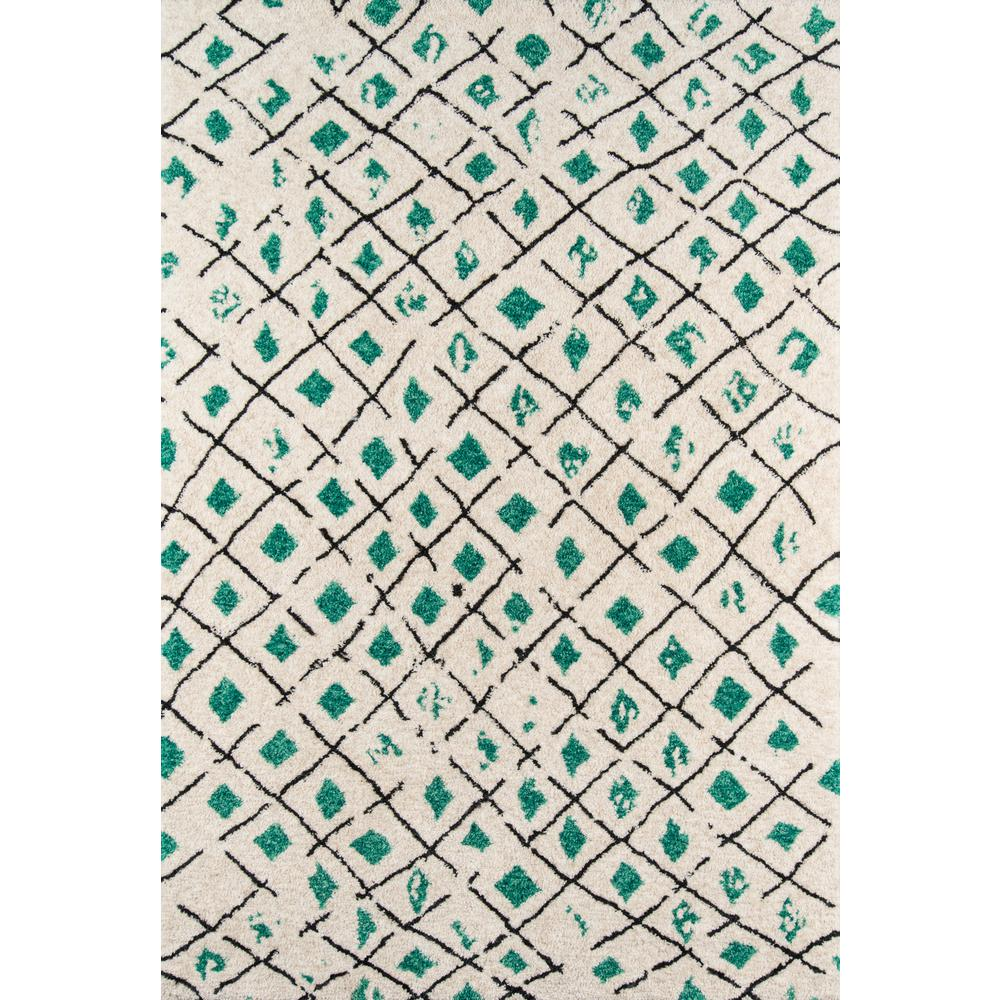"""Bungalow Area Rug, Green, 5' X 7'6"""". Picture 1"""