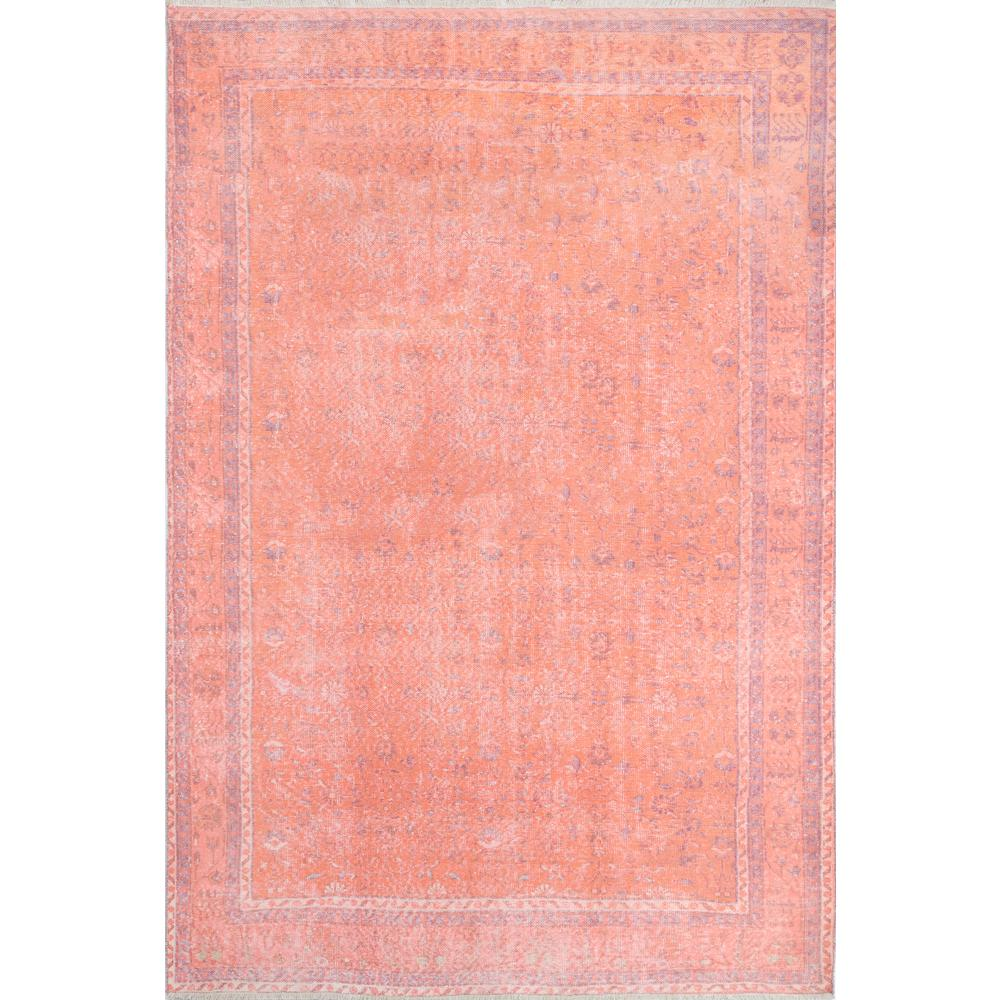 Chandler Area Rug, Coral, 4' X 6'. Picture 1
