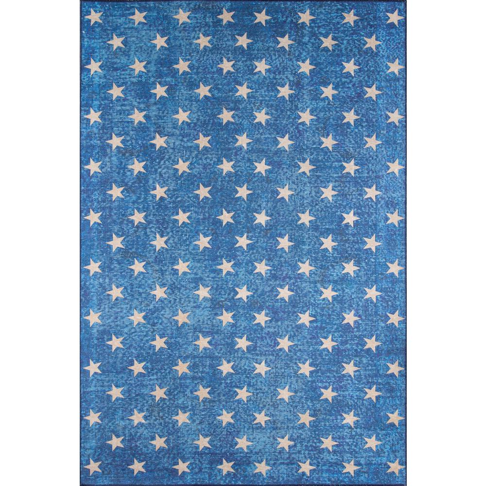 """District Area Rug, Blue, 7'6"""" X 9'6"""". Picture 1"""