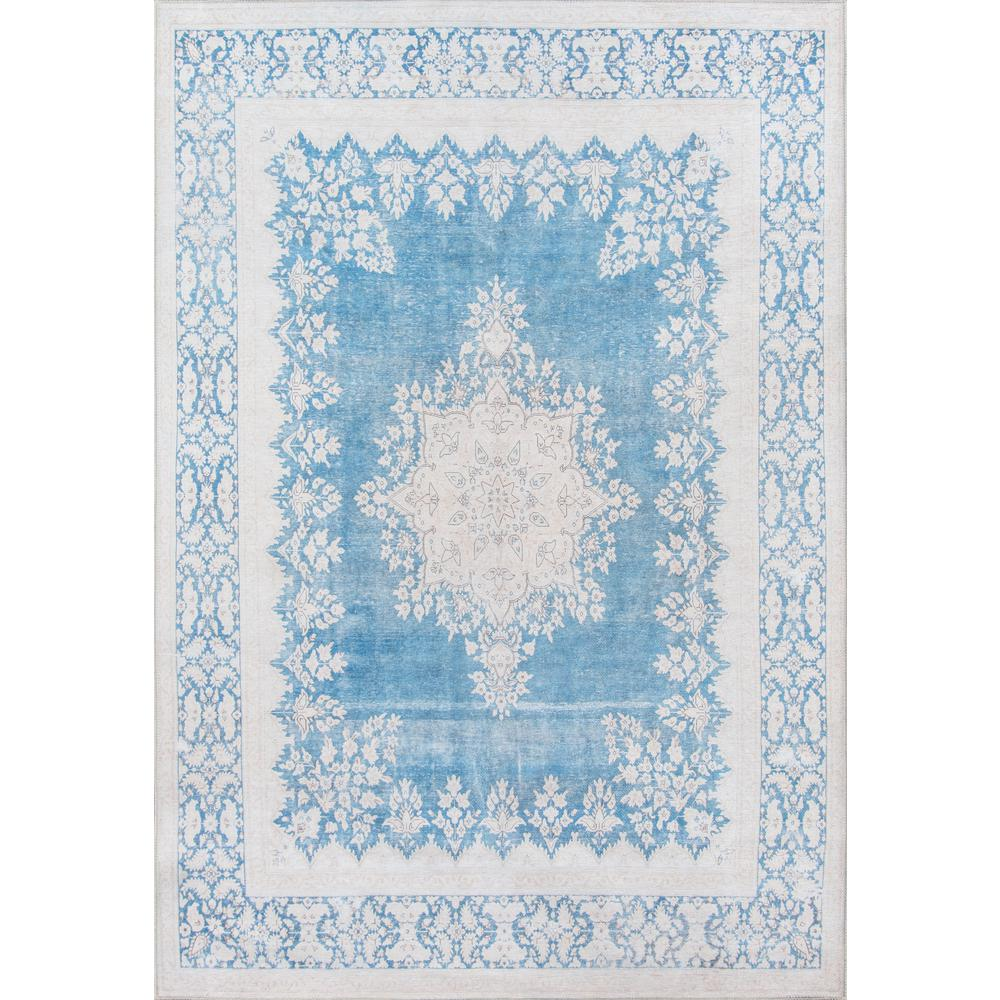 "Afshar Area Rug, Blue, 5' X 7'6"". Picture 1"