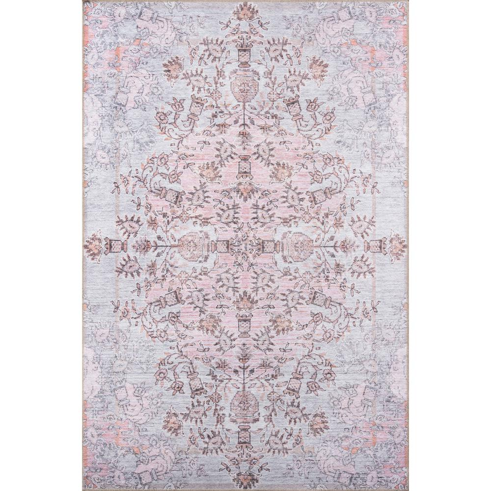 "Afshar Area Rug, Pink, 5' X 7'6"". Picture 1"
