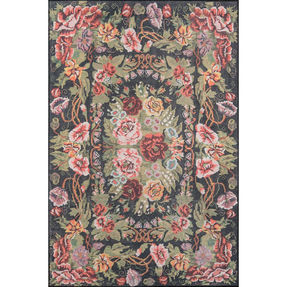 "Afshar Area Rug, Black, 5' X 7'6"". Picture 1"