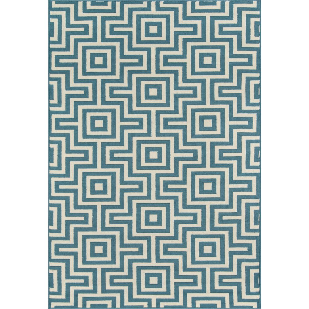 "Baja Area Rug, Blue, 3'11"" X 5'7"". Picture 1"