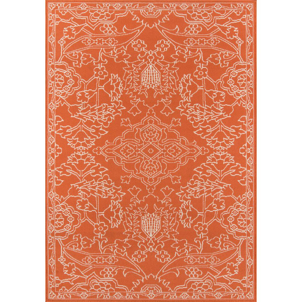 "Baja Area Rug, Orange, 3'11"" X 5'7"". The main picture."