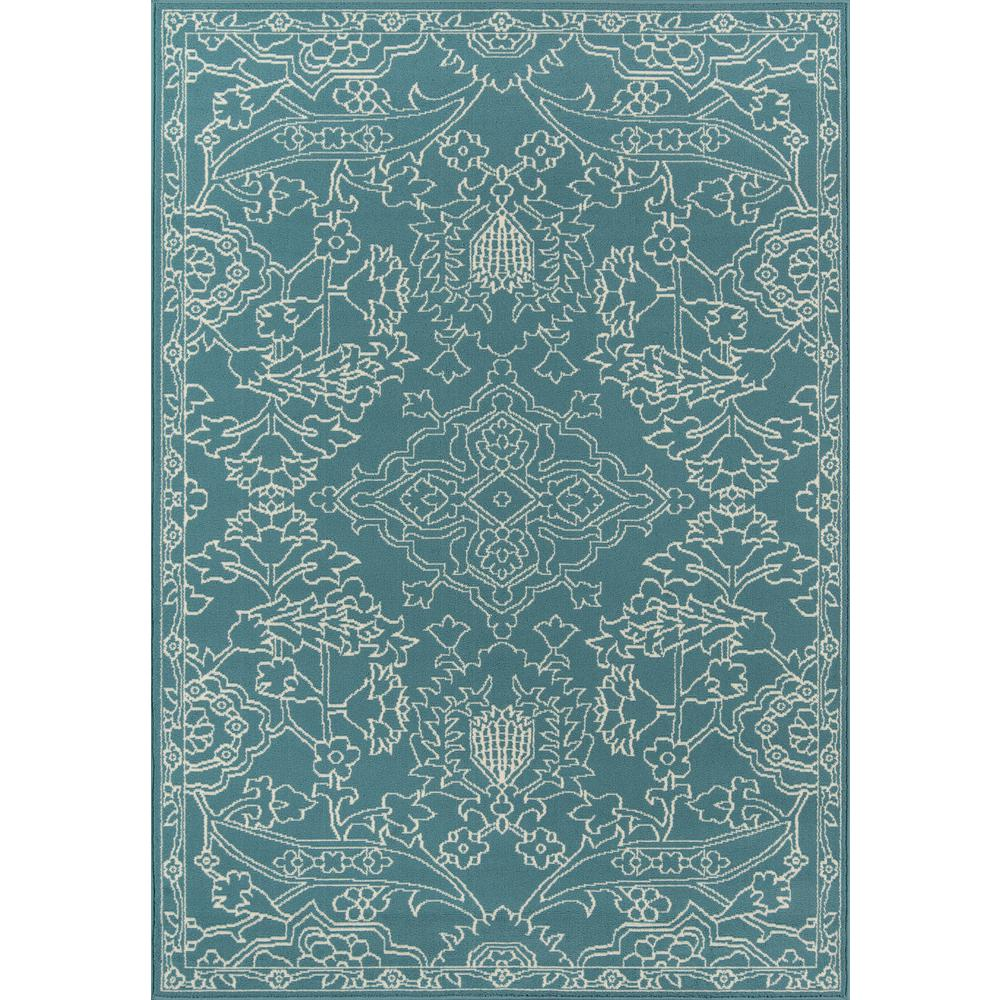 "Baja Area Rug, Teal, 3'11"" X 5'7"". The main picture."