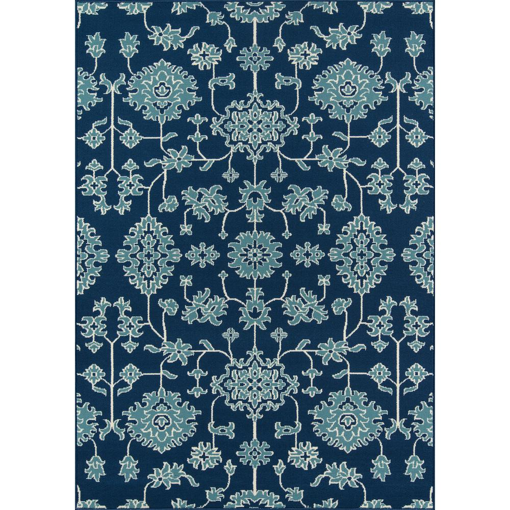 "Baja Area Rug, Blue, 3'11"" X 5'7"". The main picture."