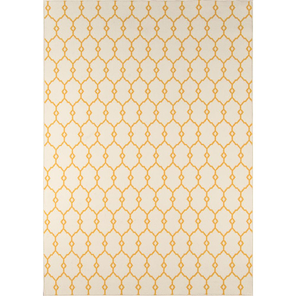 "Baja Area Rug, Yellow, 3'11"" X 5'7"". Picture 1"