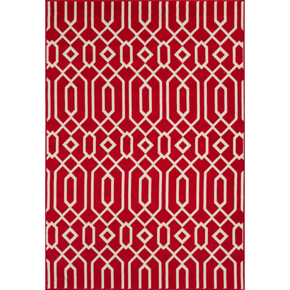 "Baja Area Rug, Red, 3'11"" X 5'7"""
