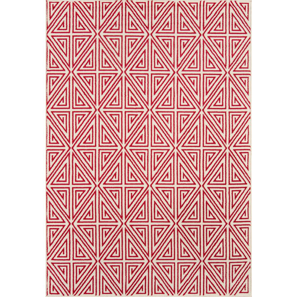 """Baja Area Rug, Red, 3'11"""" X 5'7"""". Picture 1"""