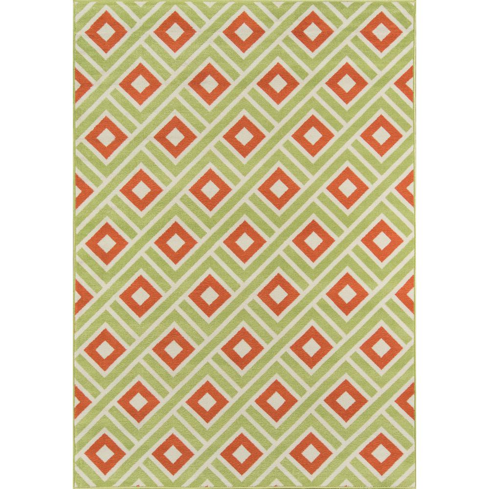 """Baja Area Rug, Green, 3'11"""" X 5'7"""". Picture 1"""