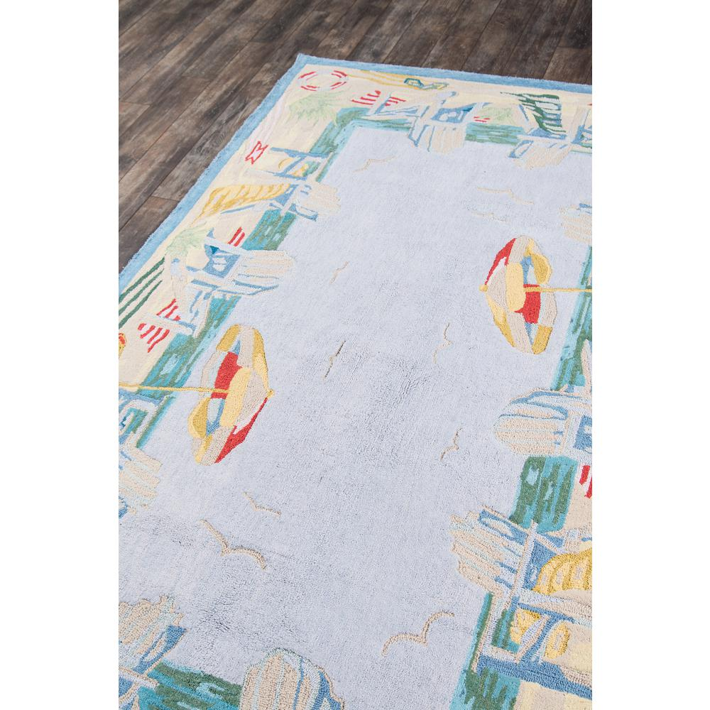 Coastal Area Rug, Light Blue, 4' X 6'. Picture 2