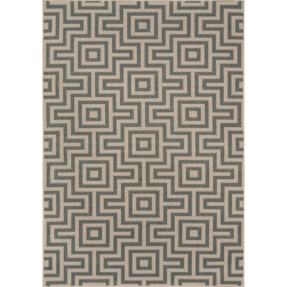 "Baja Area Rug, Grey, 5'3"" X 7'6"". The main picture."