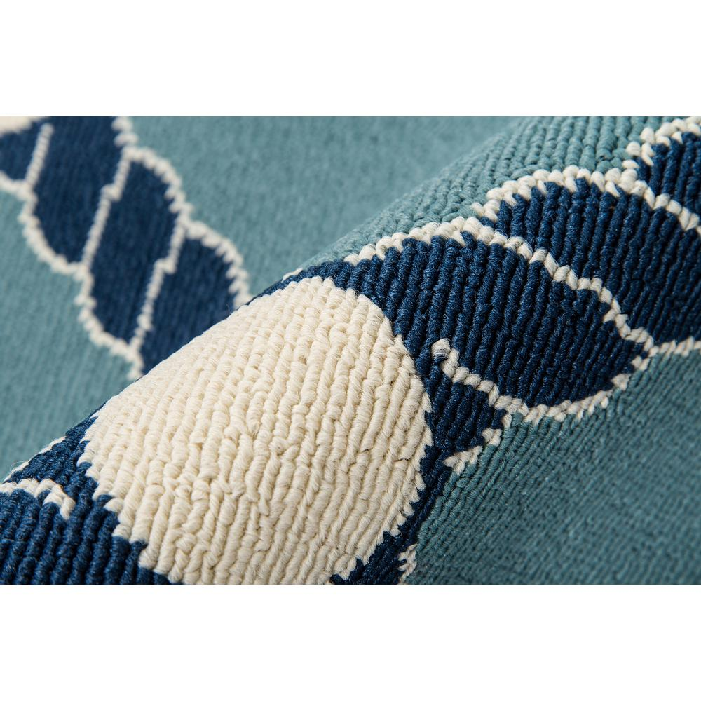 "Baja Area Rug, Blue, 5'3"" X 7'6"". Picture 4"
