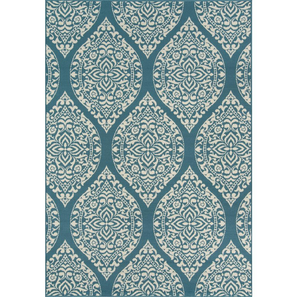 "Baja Area Rug, Blue, 5'3"" X 7'6"". Picture 1"