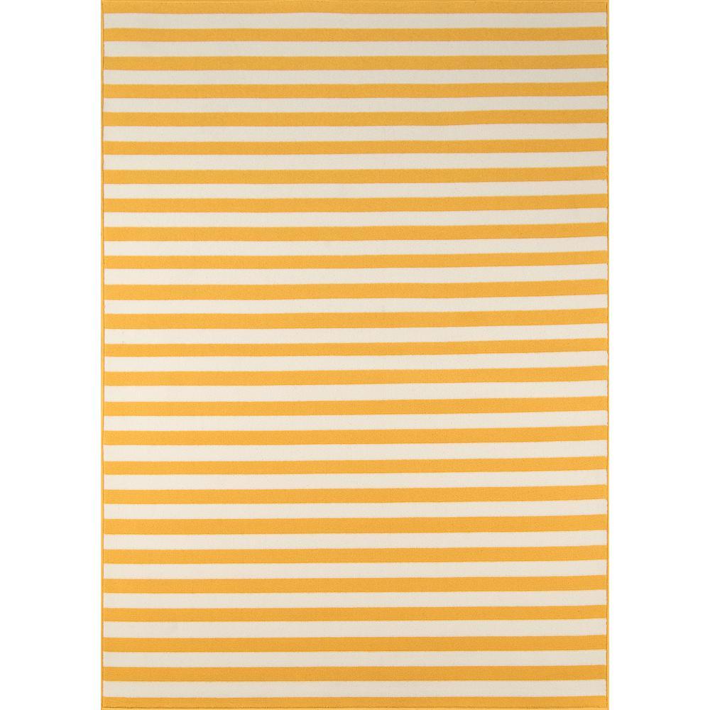 "Baja Area Rug, Yellow, 5'3"" X 7'6"". Picture 1"