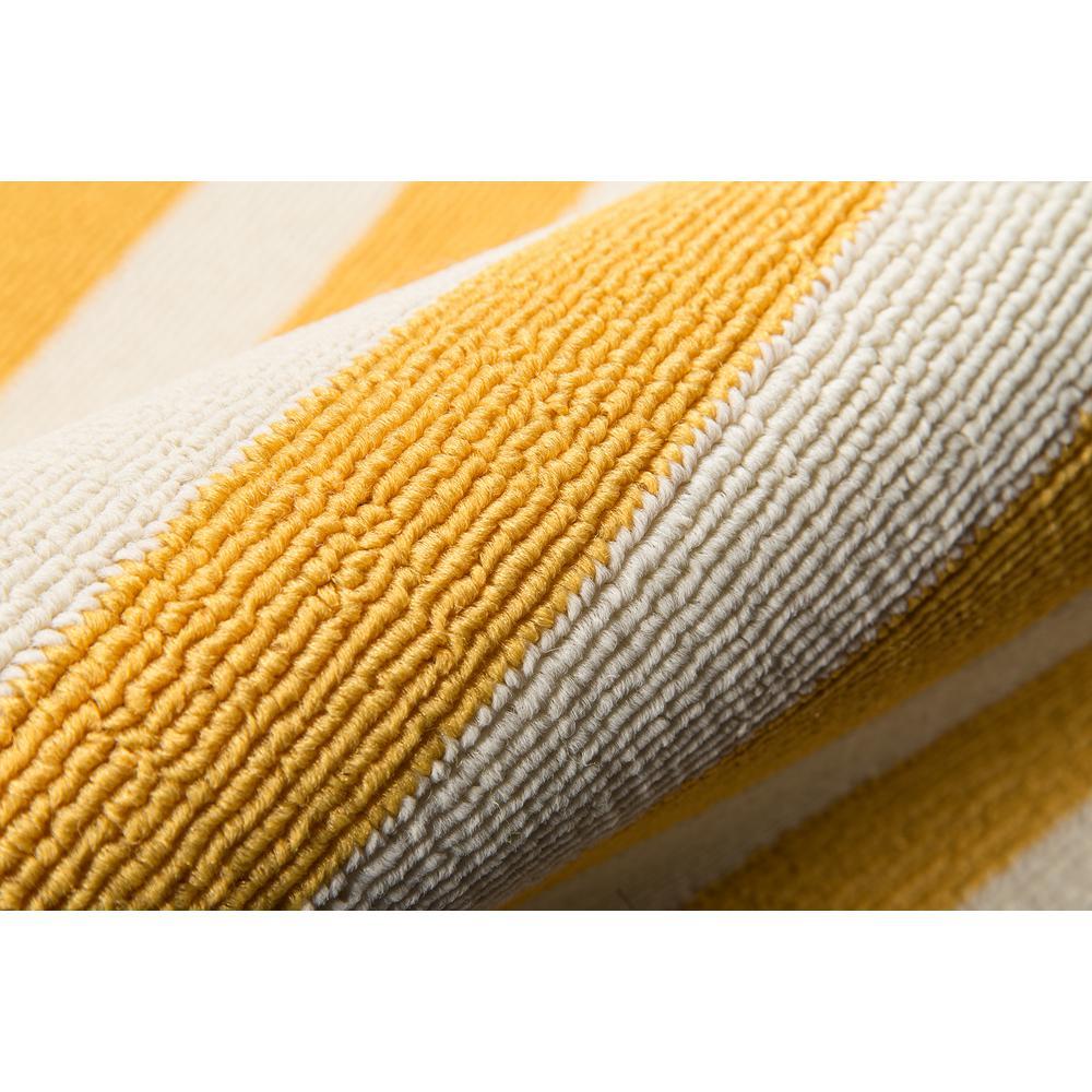 "Baja Area Rug, Yellow, 5'3"" X 7'6"". Picture 4"