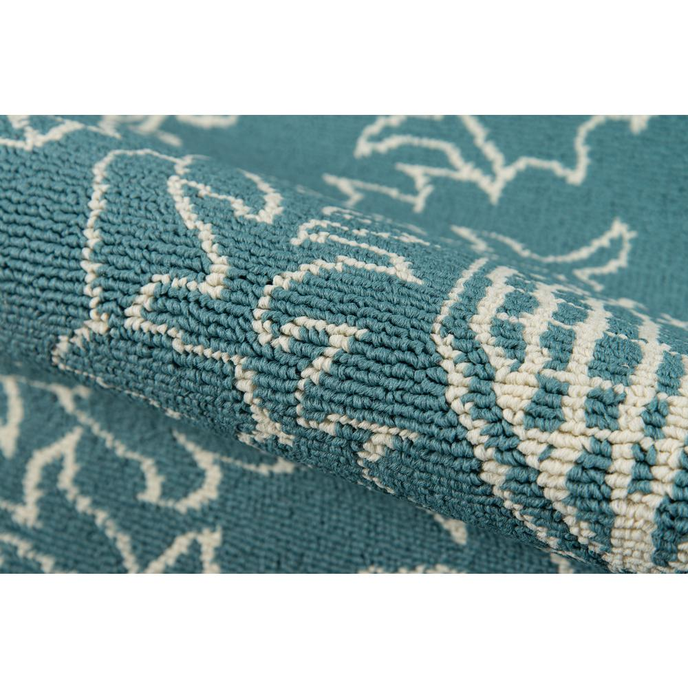 """Baja Area Rug, Teal, 5'3"""" X 7'6"""". Picture 4"""