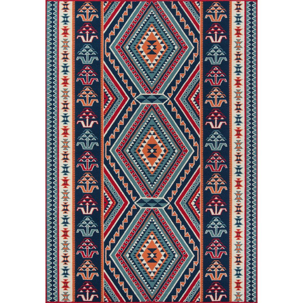 "Baja Area Rug, Red, 5'3"" X 7'6"". Picture 1"