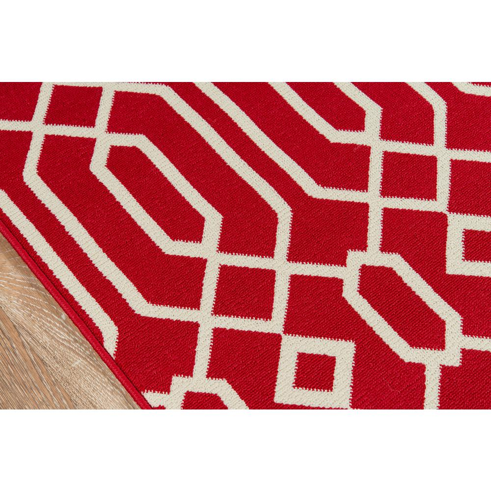 "Baja Area Rug, Red, 5'3"" X 7'6"". Picture 3"
