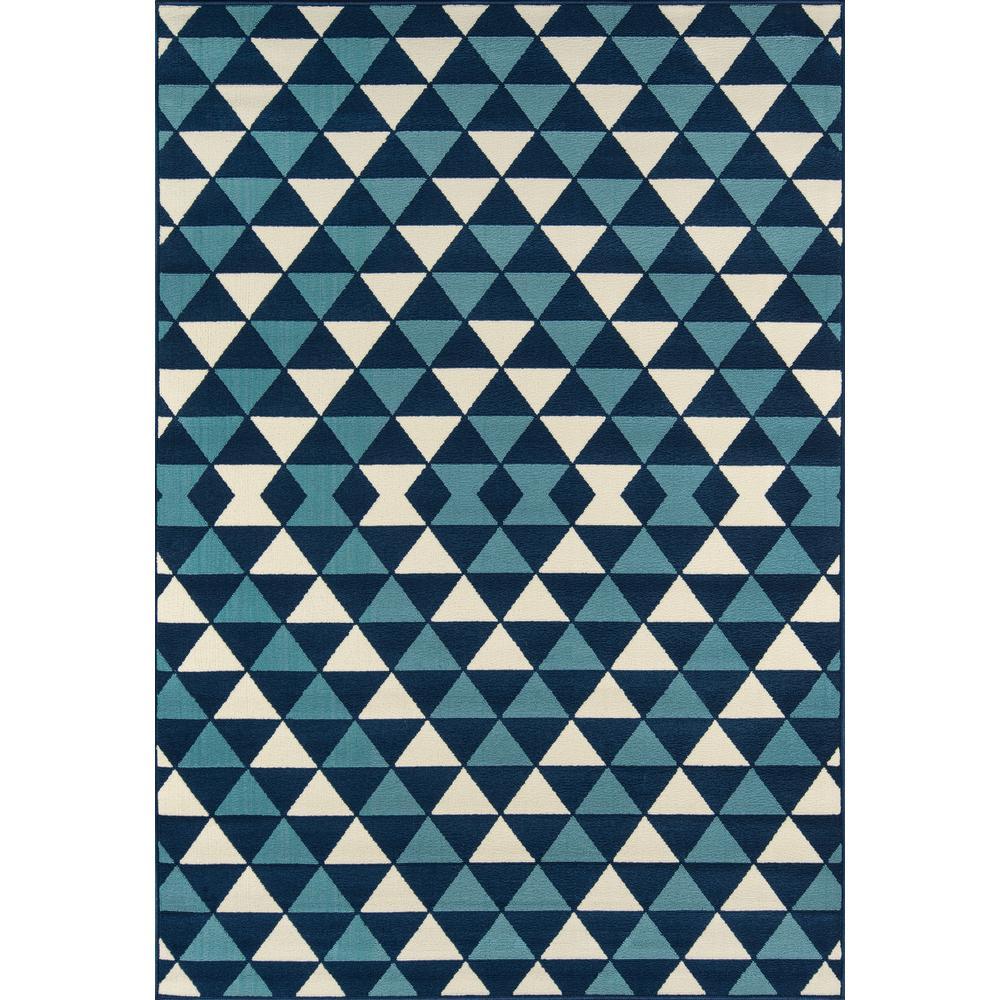 "Baja Area Rug, Blue, 5'3"" X 7'6"". Picture 1"