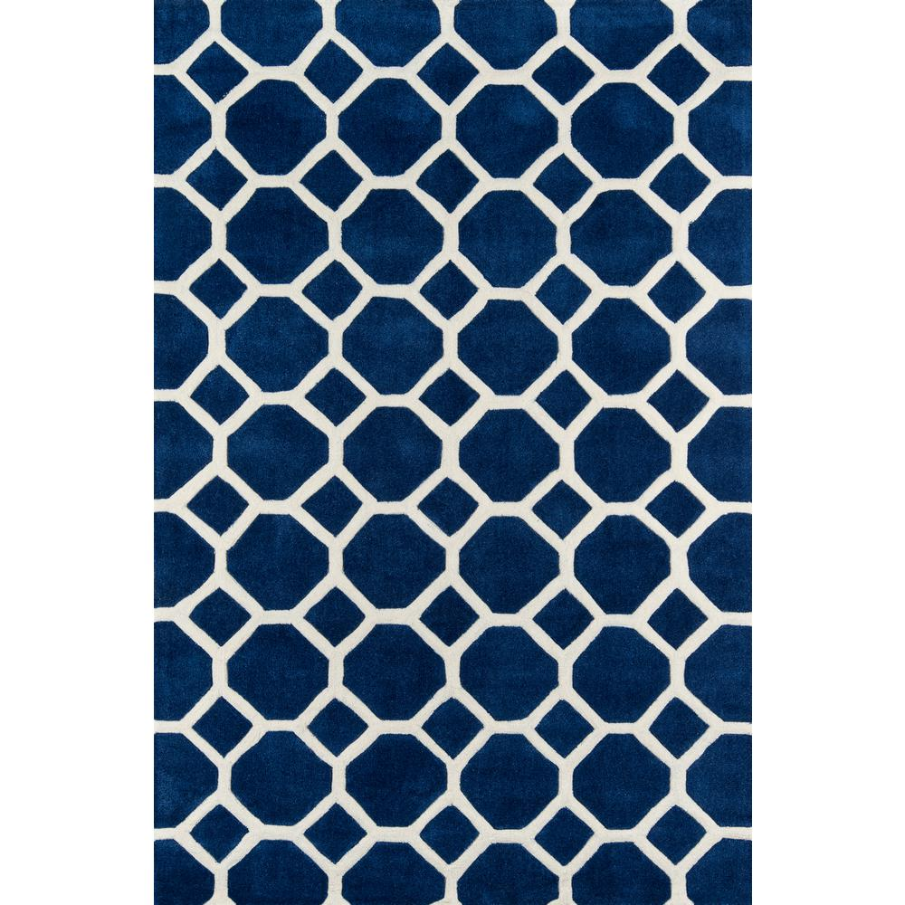 Bliss Area Rug, Navy, 8' X 10'. Picture 1