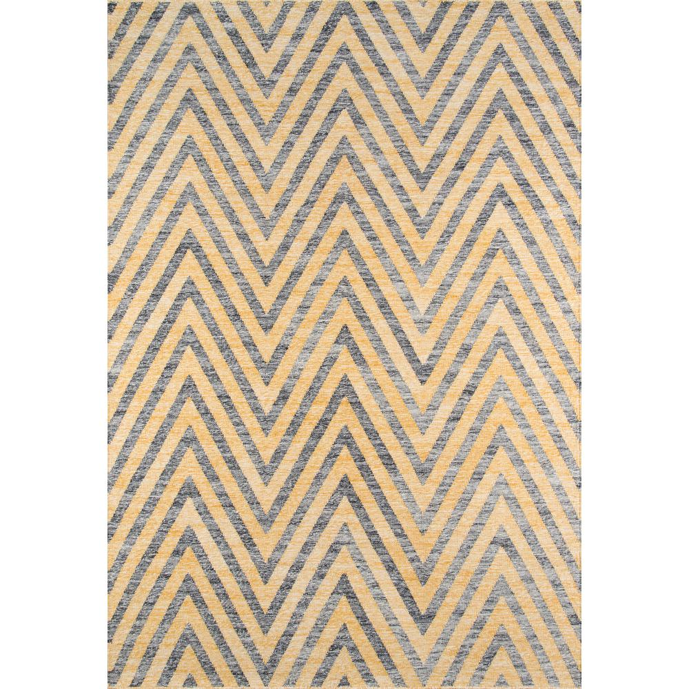 "Caravan Area Rug, Yellow, 7'6"" X 9'6"". Picture 1"