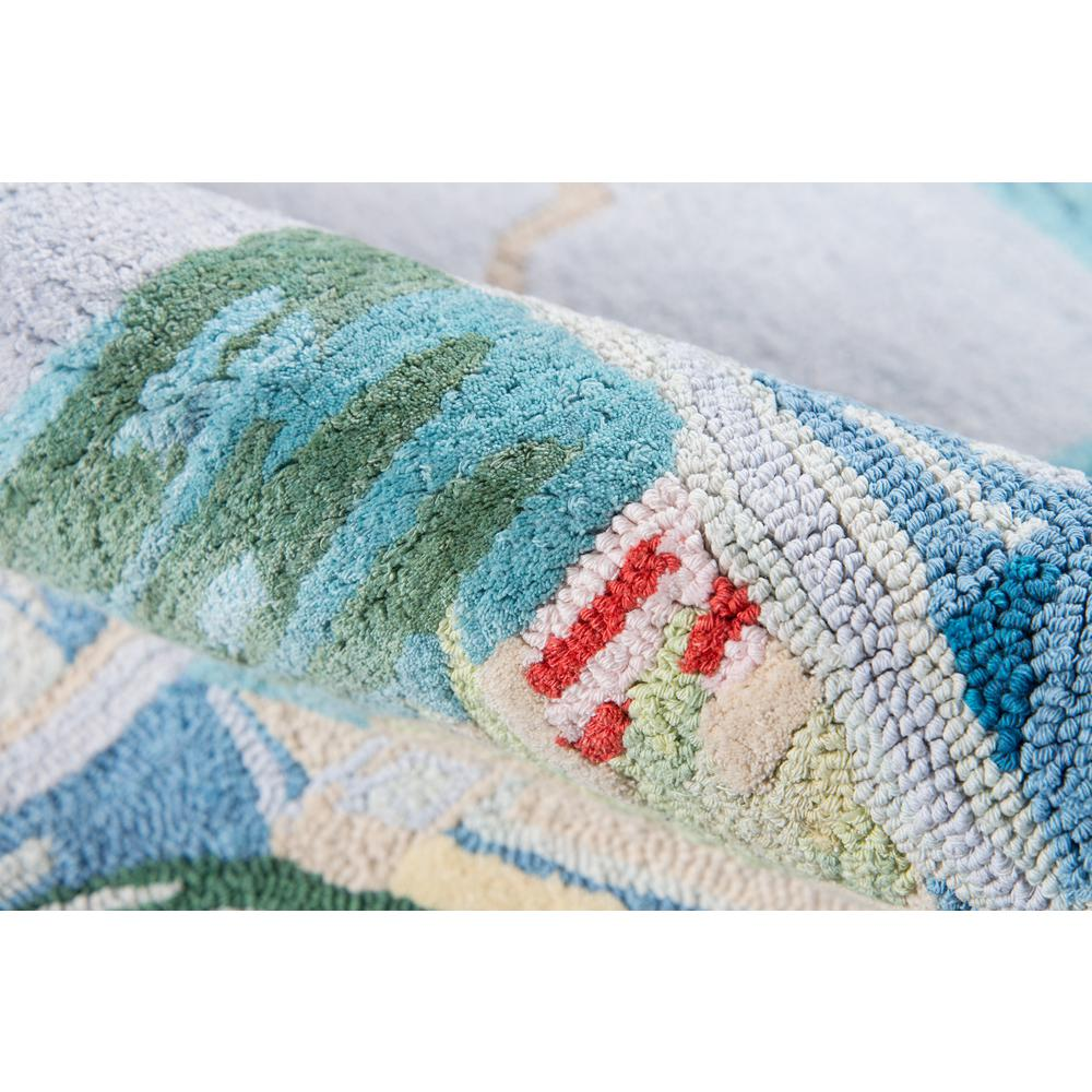 Coastal Area Rug, Light Blue, 8' X 11'. Picture 4