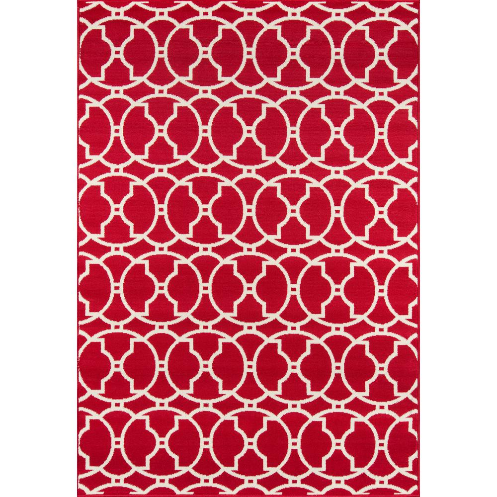 """Baja Area Rug, Red, 6'7"""" X 9'6"""". Picture 1"""