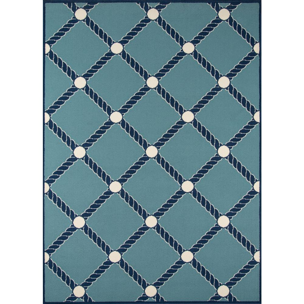 "Baja Area Rug, Blue, 6'7"" X 9'6"". The main picture."