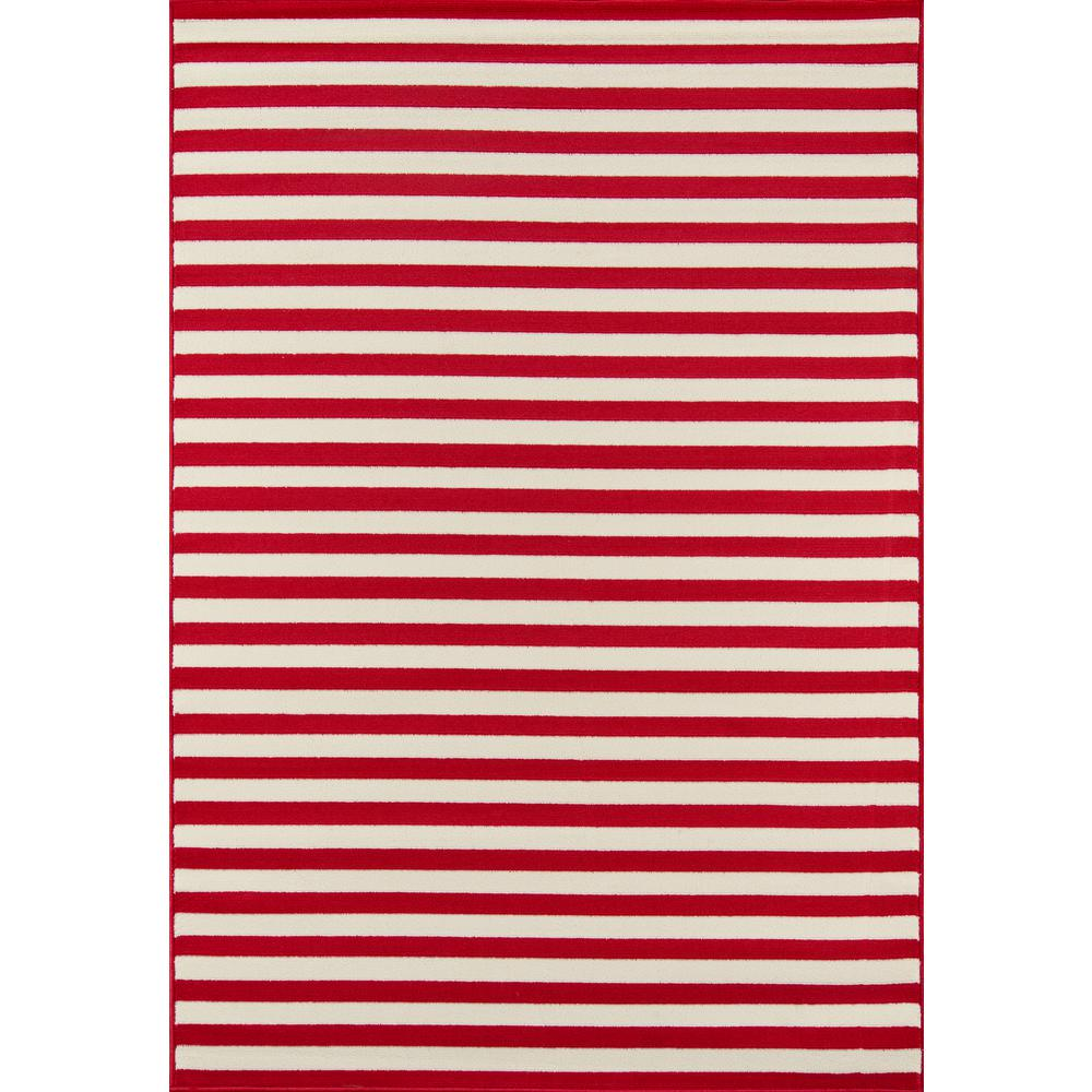 "Baja Area Rug, Red, 6'7"" X 9'6"". Picture 1"