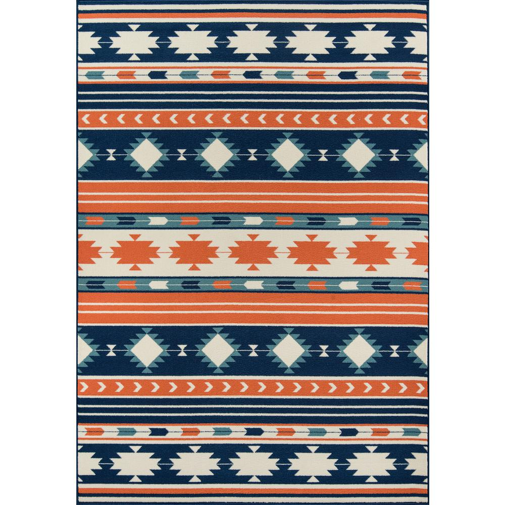 "Baja Area Rug, Multi, 6'7"" X 9'6"". The main picture."