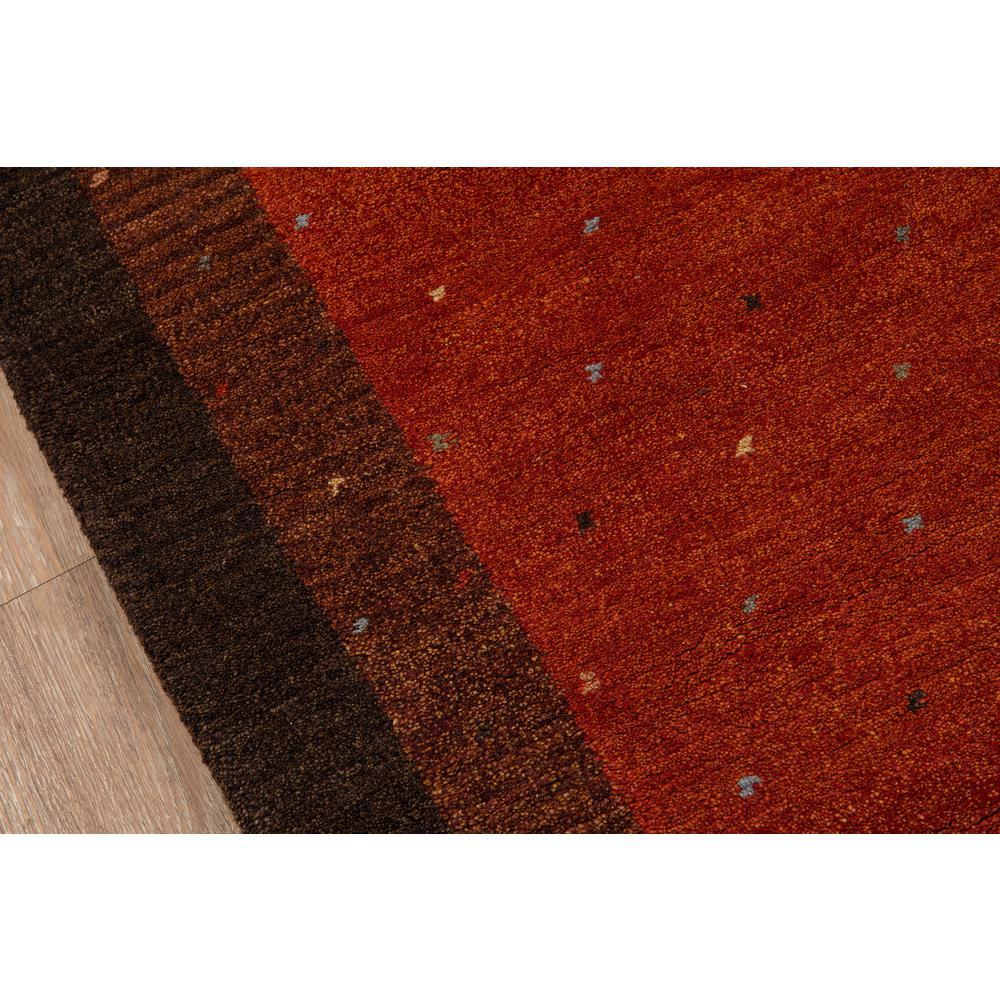 Desert Gabbeh Area Rug, Paprika, 8' X 8' Round. Picture 3