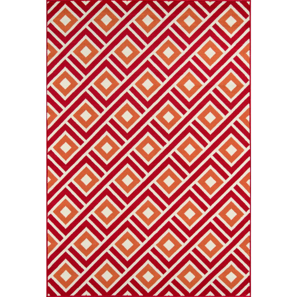 "Baja Area Rug, Red, 7'10"" X 10'10"". Picture 1"