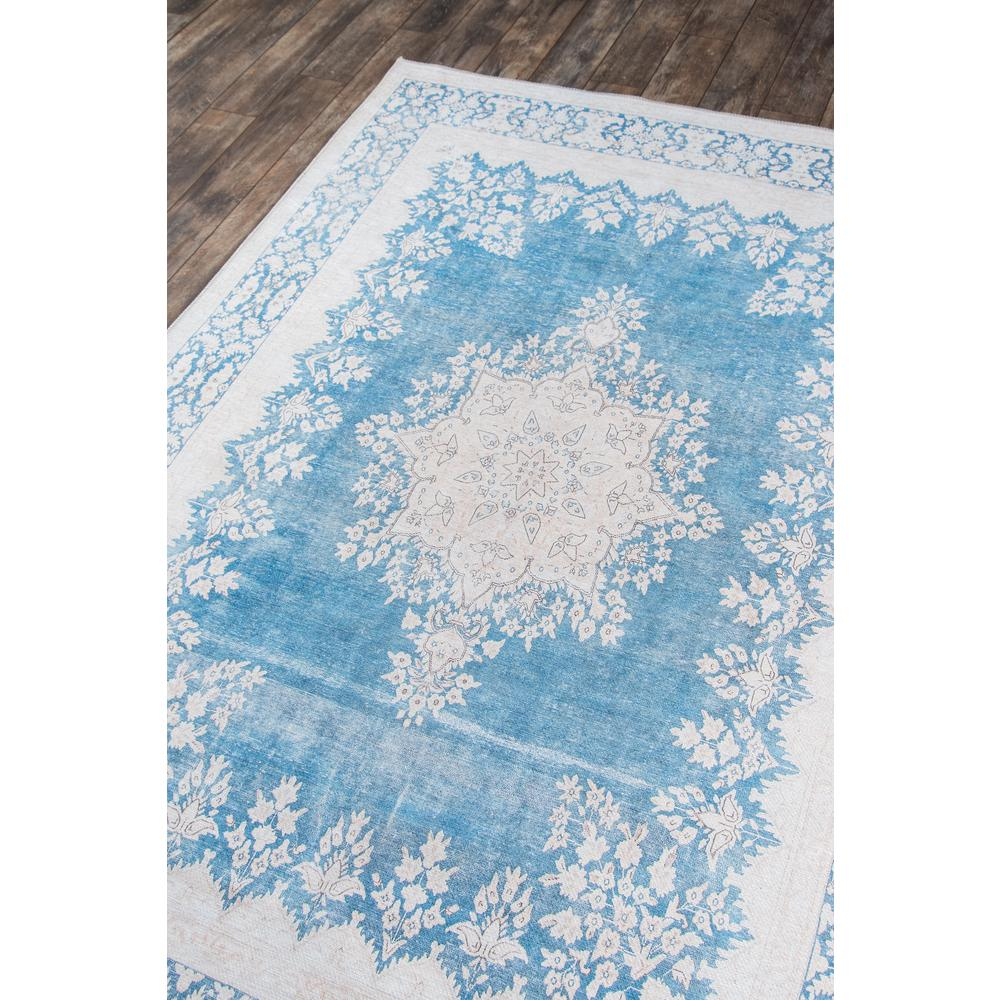 Afshar Area Rug, Blue, 2' X 3'. Picture 2