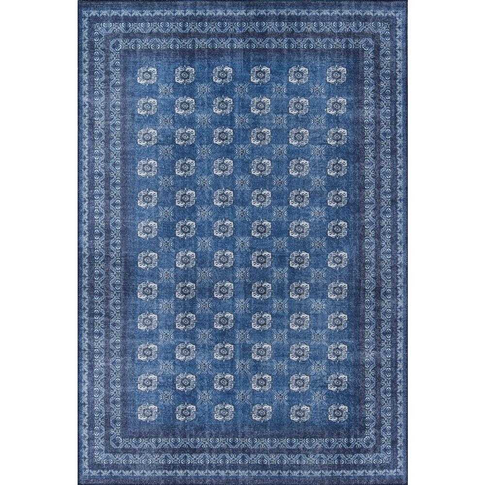 Afshar Area Rug, Blue, 2' X 3'. Picture 1