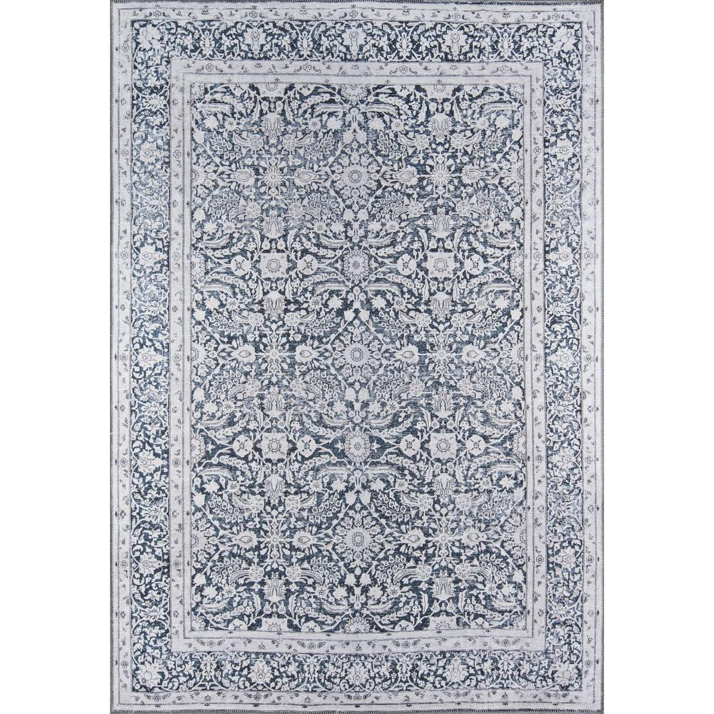 Afshar Area Rug, Charcoal, 2' X 3'. Picture 1
