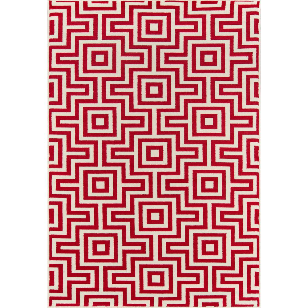 "Baja Area Rug, Red, 1'8"" X 3'7"". The main picture."